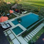 floating breakfast at private pool villa griya atma2