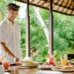 serving breakfast at villa cemadik