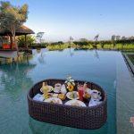 floating breakfast at private pool villa griya atma