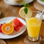 healty orange juice for your breakfast at villa cemadik