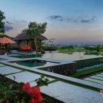 pool view at villa griya atma at night6