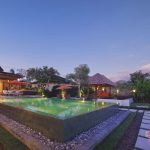 pool view at villa griya atma at night4