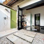 luxury open bath at villa rumah lotus