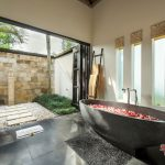 luxury bathroom at villa rumah lotus