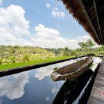 mini pool and valley view at villa kelusa pondok sapi