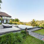 private pool and valley view at villa kelusa pondok s