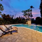 relax your body at night with swimming pool at villa cemadik