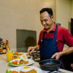 cooking at cempaka room villa cemadik