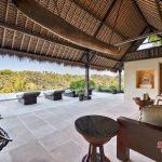 living room with private pool at villa kelusa pondok sapi