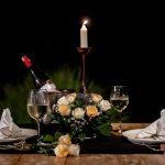 dinner table at villa kelusa2