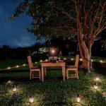 romantic dinner at villa kelusa