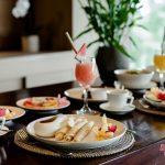 villa kelusa breakfast with healty food