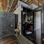 outdoor bathroom at villa kelusa pondok sapi