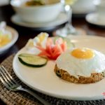fried rice with indonesia taste at villa kelusa pondok surya