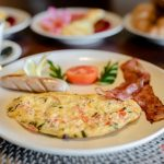 egg and meat is one of the best favorite breakfast at villa kelusa