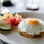 fresh egg with fried rice for your breakfast at villa kelusa pondok sapi