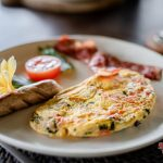 fresh egg and a sossis for your breakfast at villa kelusa pondok sapi