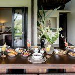 your breakfast table at villa kelusa pondok sapi