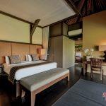 simple design for bedroom of villa kelusa pondok surya