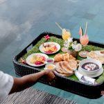 floating breakfast at villa kelusa pondok sapi