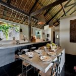 dinning room at villa kelusa pondok sapi