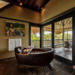 our bathtube view at villa kelusa pondok surya