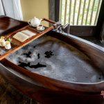 relax your body with elegant bathtube at villa kelusa pondok surya