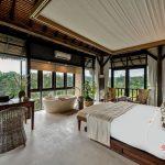 single bed with beautiful view at villa kelusa pondok sapi