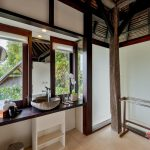 bathroom table at villa kelusa pondok sapi