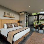 king size bedroom at villa kelusa pondok sapi