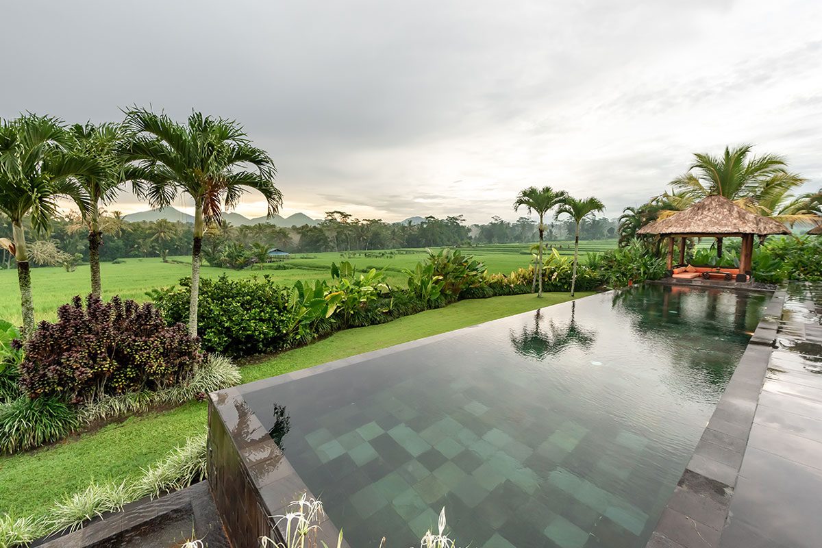 the swimming pool of villa rumah lotus