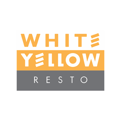 white yellow restaurant logo