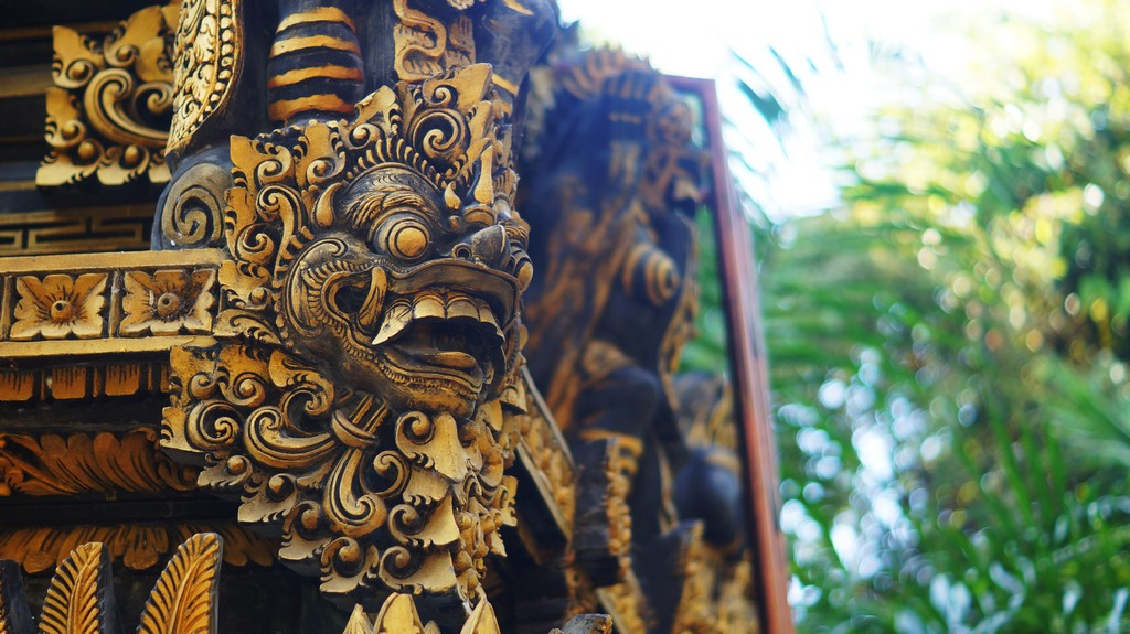 Balinese Stone Carving Arts used as Guardian at Temple