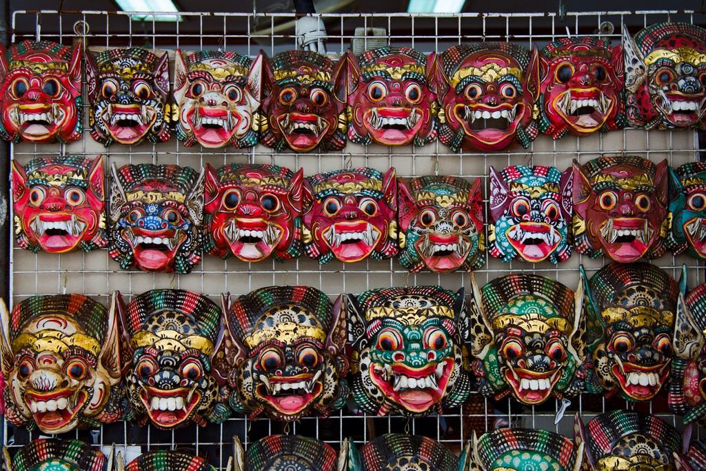 Balinese Arts Wooden Barong Mask