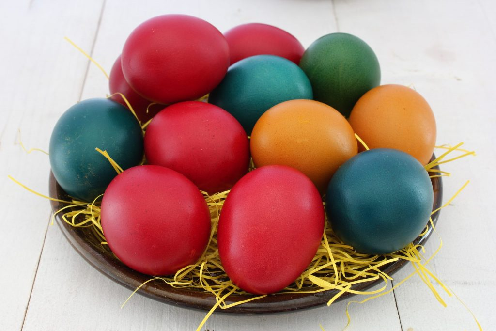 Easter Eggs representing Jesus resurrection