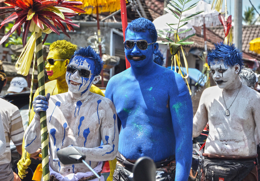 Balinese Tradition: Ngerebeg (The painted Boys)