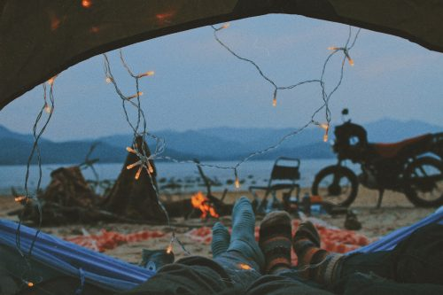 Camping with view