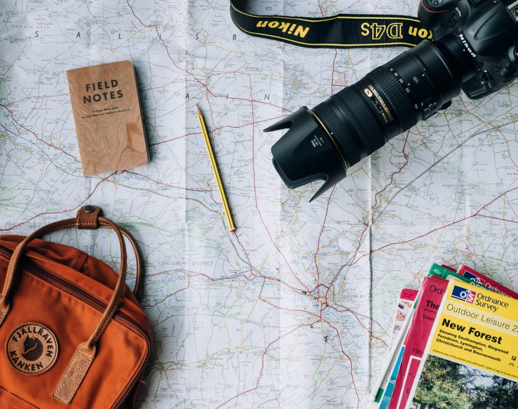 Plan routes of the road trip holiday