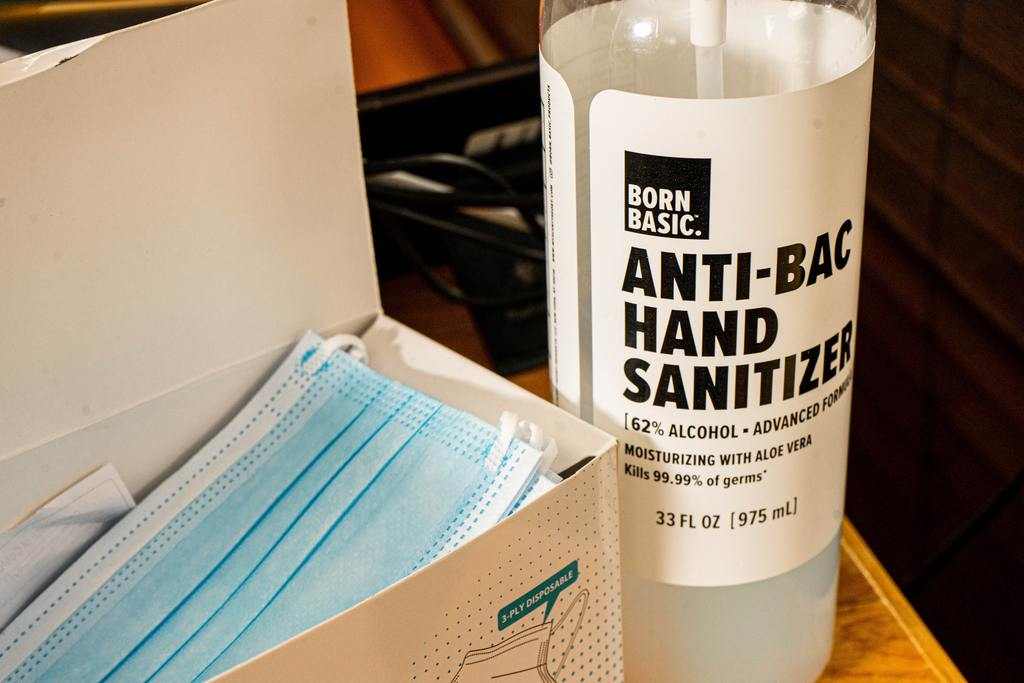 Retreat - pack hand sanitizer and face mask