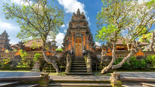 Ubud palace front view
